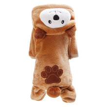 Load image into Gallery viewer, Brown Bear Dog Hooded Pajamas