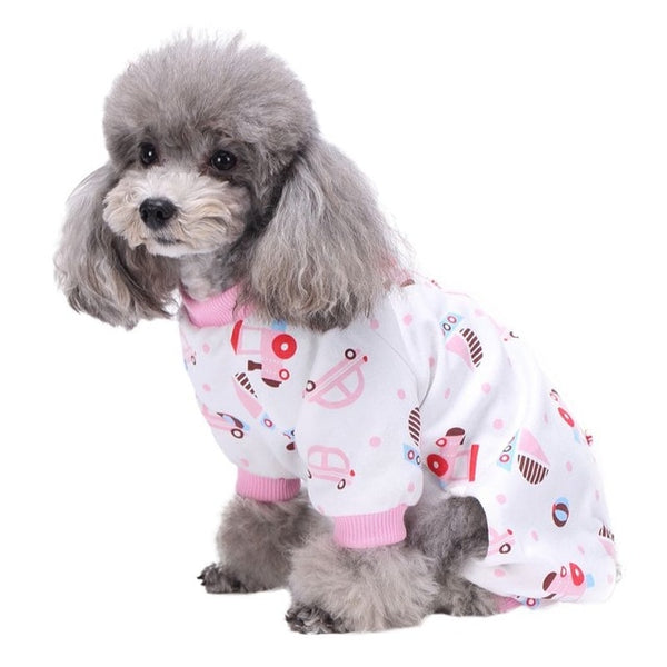 Car Print Dog Pajamas