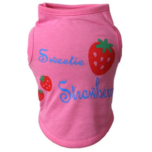 Sweetie Strawberry Dog Shirt