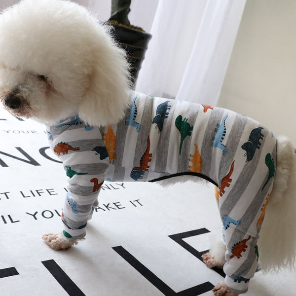 Elastic Cotton Dog Jumpsuit