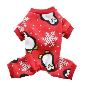 Snowflake Christmas Pajamas: Red / L