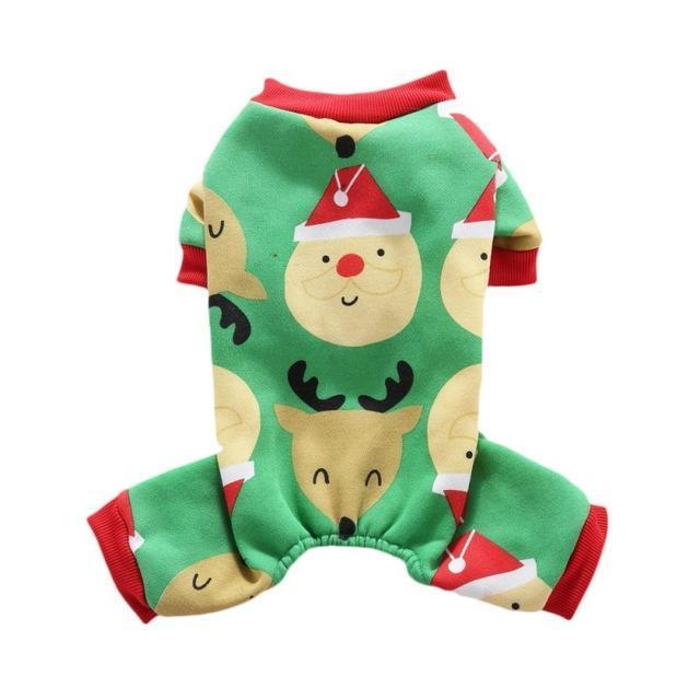 Snowflake Christmas Pajamas: Green / L
