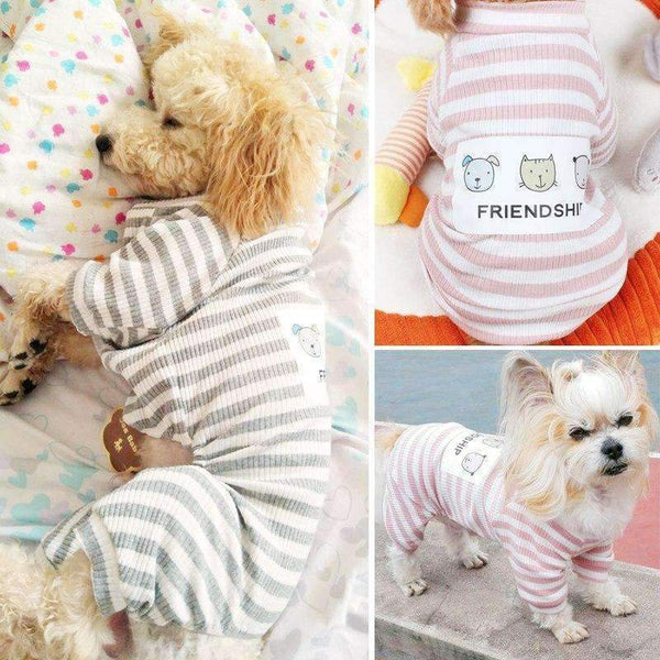 Stripes Dog Jumpsuit Pajamas
