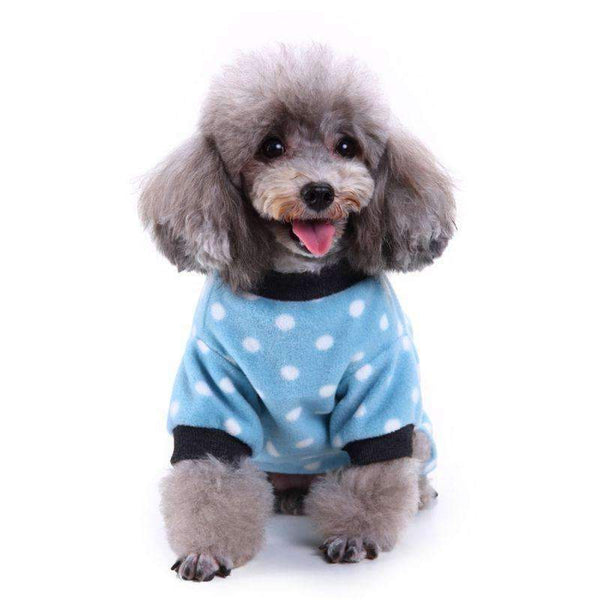 Warm Fleece Dog Pajamas for Winter