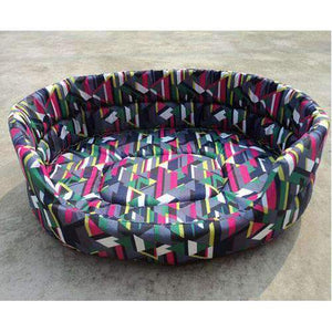 Warm Winter Dog Bed: mixed colors / 51x38x14cm