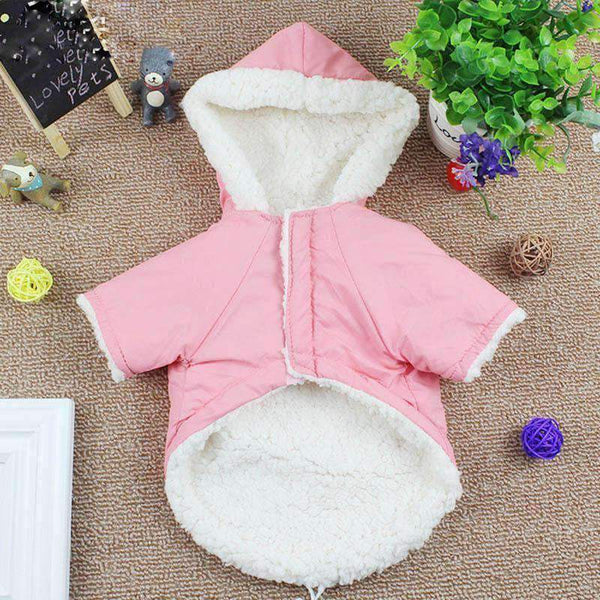 Warm Winter Dog Jacket: Pink / L