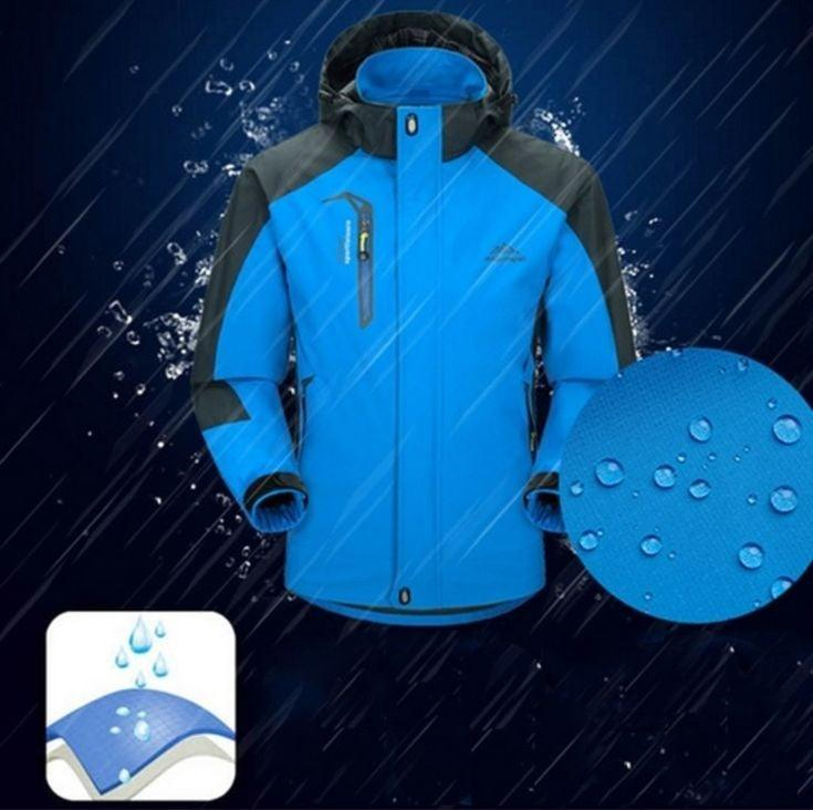 Mountain Man Waterproof Spring Hooded Coat for Men
