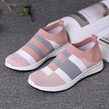 Knitted Mesh Vulcanized Casual Sock Shoe Sneakers for Women