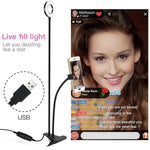 Universal Selfie Ring Beauty Light with 360 Flexible Mobile Phone Holder