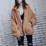 Fleece Casual Overcoat Zipper Jacket