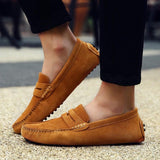 Soft Moccasins Men Genuine Leather Shoes Loafers