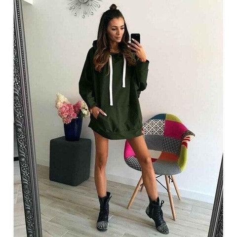 Quality Casual Oversized Hoodie Dress