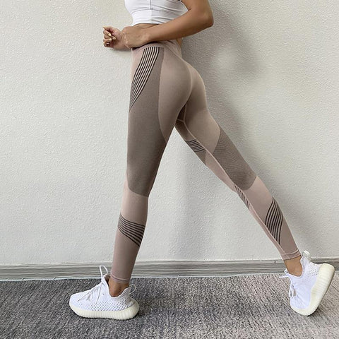 Elegant Muscle Action Fitness Leggings for Woman