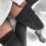 Thigh-High Knitted Socks for Women