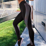 Reflective Dark Glow Fitness Leggings for Woman
