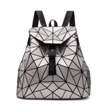 Metallic Geometric Designer Backpack Handbag