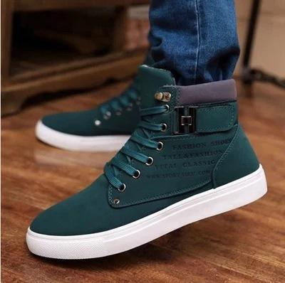 Hot Buckle Ankle Lace-Up Men's Shoes