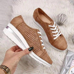 Spring Casual Women's Vintage Lace-Up Canvas Sneakers