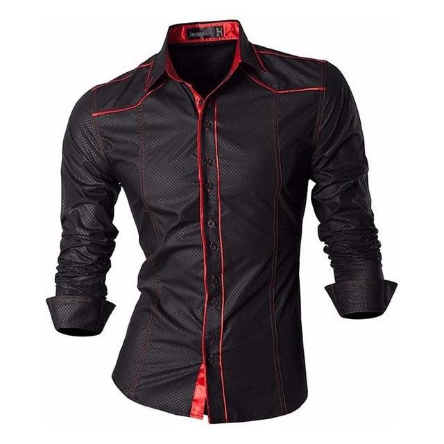Stylish Long Sleeve Slim Fit  Single Breasted Button Up Shirt