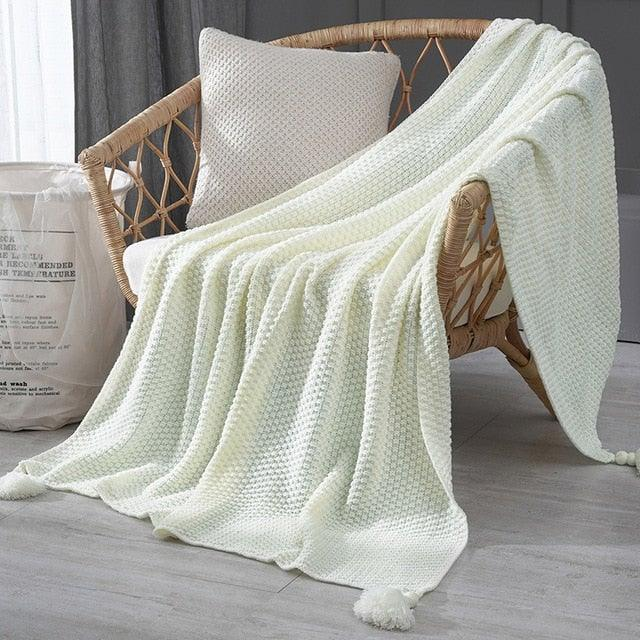 Soft Thread Boho Style Blanket with Tassels