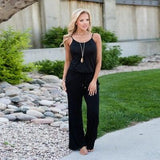 Jumpsuit Women's Romper with Pockets