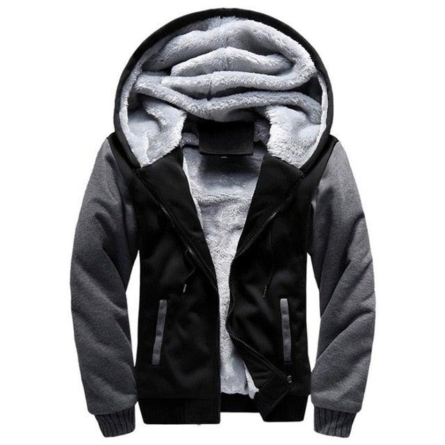 Winter Thick Ultra Warm Fleece Men's Zip-Up Hoodie