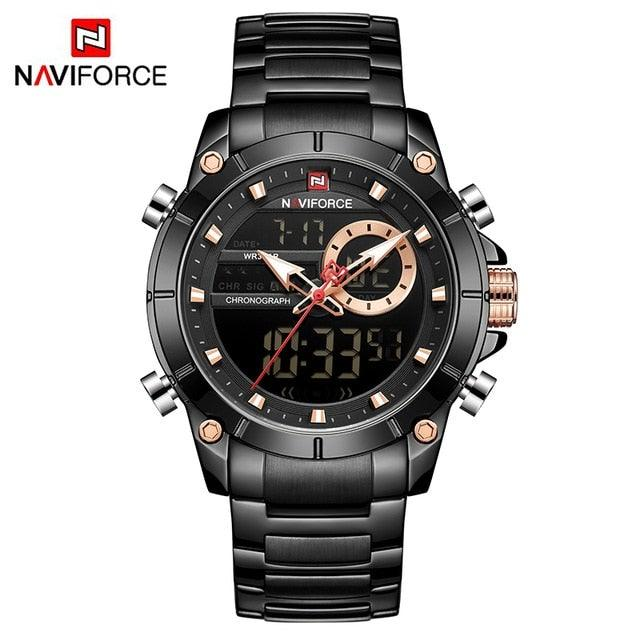 NAVIFORCE Military Chronograph Stainless Steel Watch