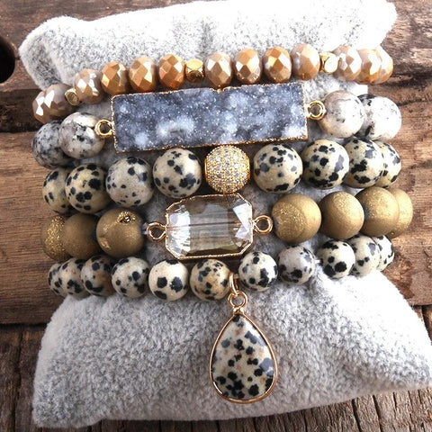 RH Designer Empire Stones Beaded Bracelet