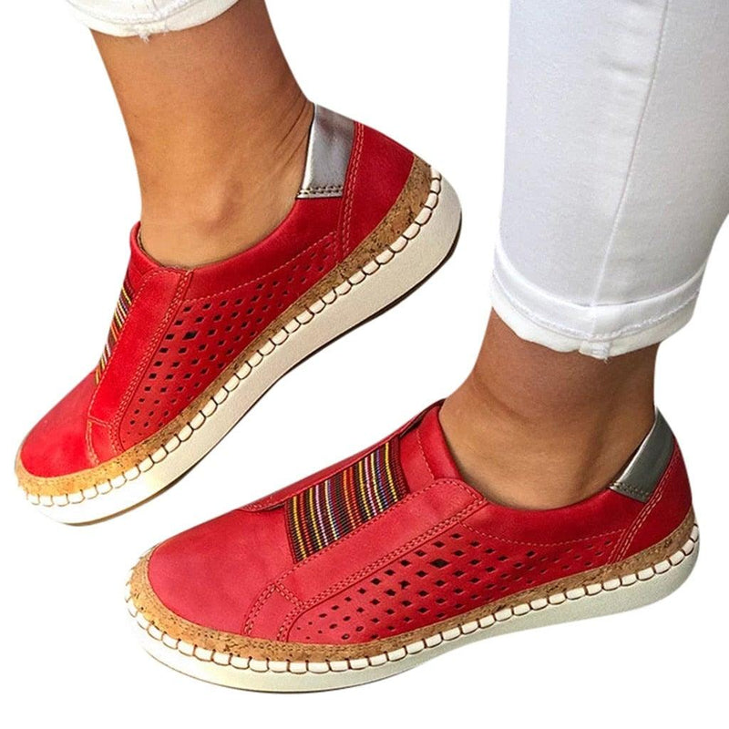 Casual Hollow-Out Round Toe Slip Ons
