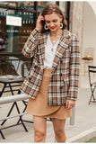 Plaid and Tweed Women's Blazer