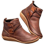 Casual Vintage Leather Waterproof Ankle Boots