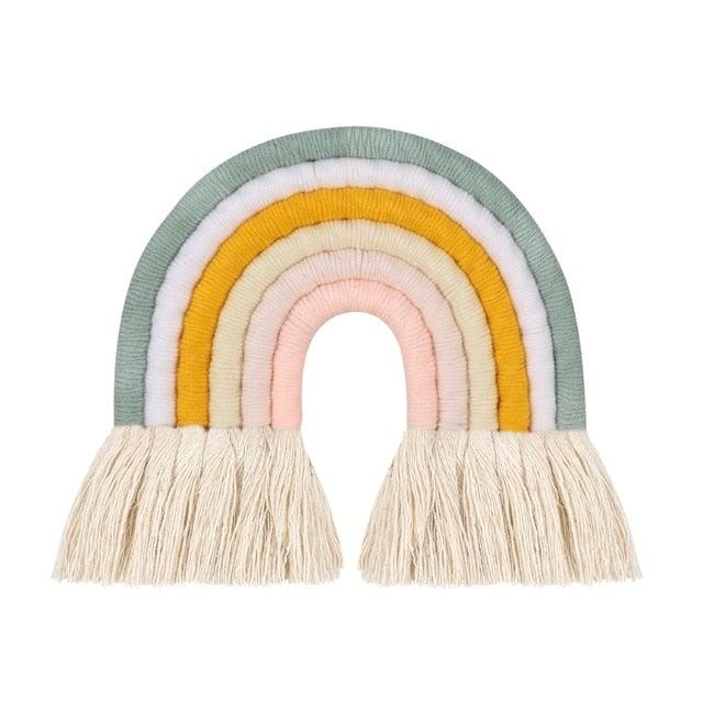 Macrame Rainbow Hanging Ornament