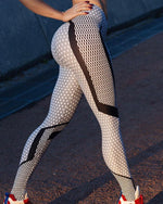 Black And White Women's Leggings with High Waist