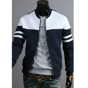 Men Fit Stripped Golf Coat Jacket