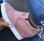 Slip-On Ankle Wedge Shoes for Ladies