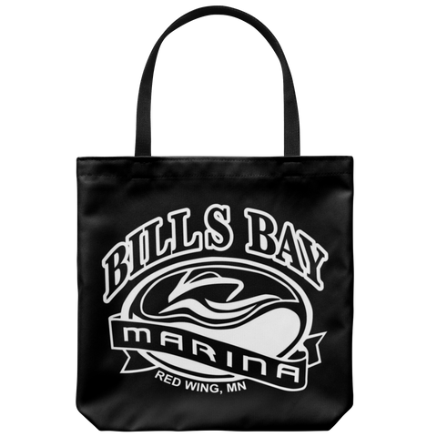 "Bill's Bay Marina 18"" x 18"" Tote in White"