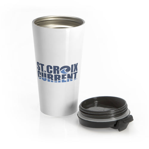 St. Croix Current Stainless Steel Travel Mug - Nauti Details