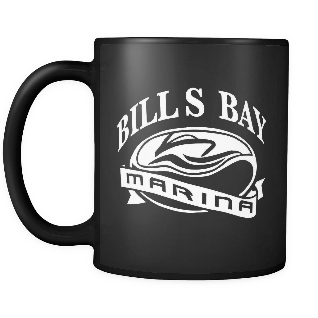 Bill's Bay Marina Mug in Black