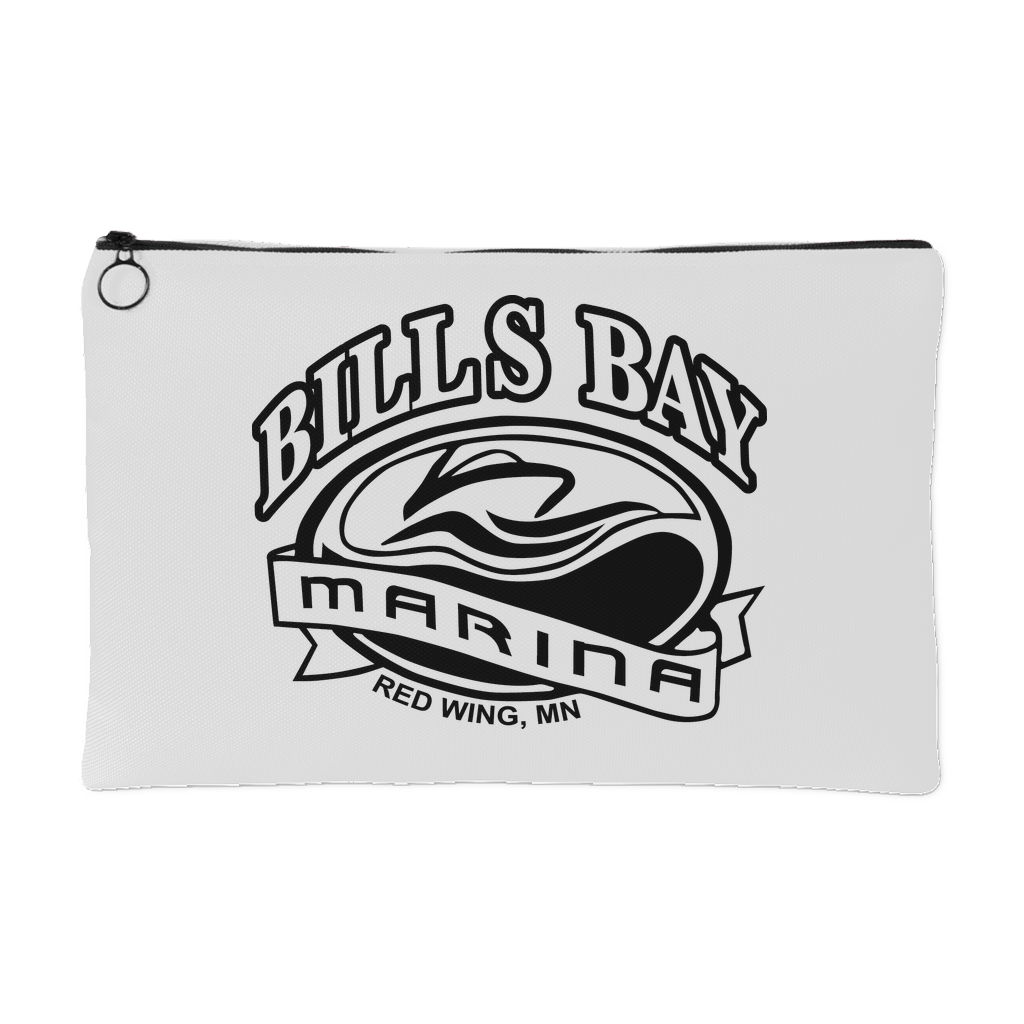 Bill's Bay Marina Zipper Pouch - Two Sizes - Nauti Details
