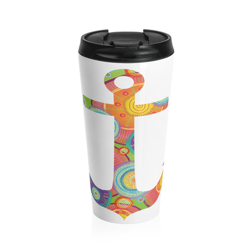 Colorful Anchor 15 oz. Stainless Steel Drink Tumbler - Nauti Details