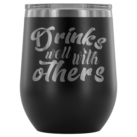 Drinks Well with Others 15 oz Stainless Steel Drink Tumbler in Red