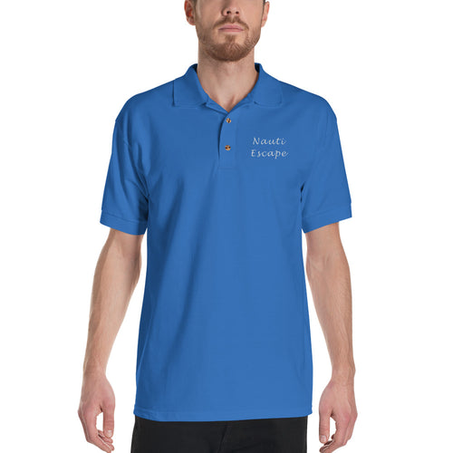 Custom Boat Name Embroidered Polo Shirt - Nauti Details