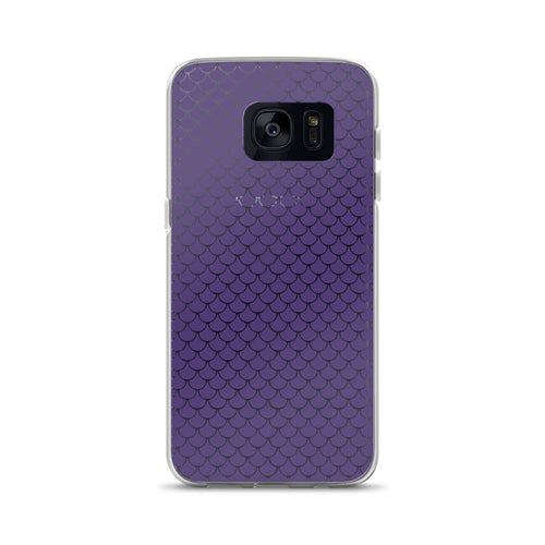 Mermaid Fish Scale Purple Rush Samsung Phone Case - Nauti Details