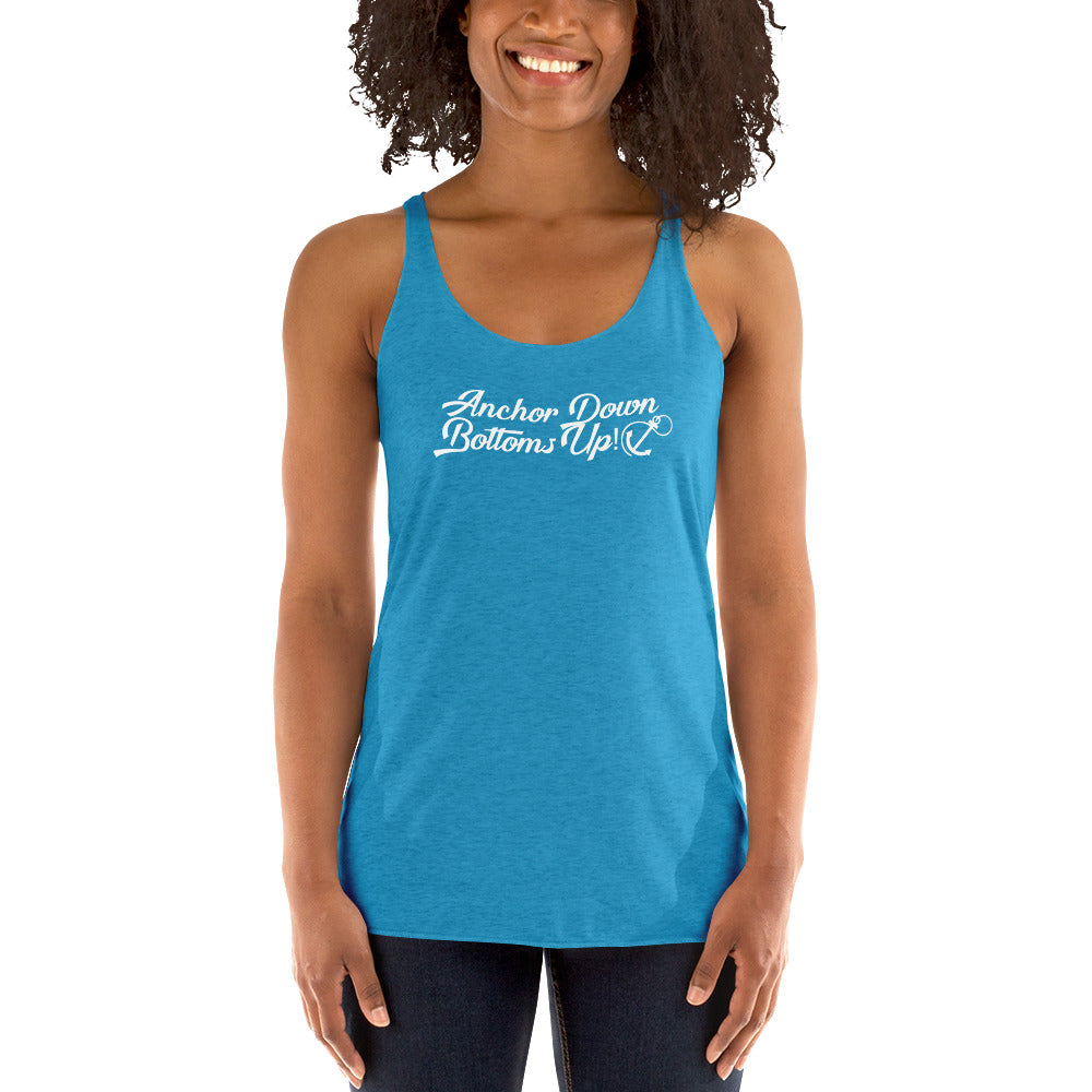 Anchor Down Bottoms Up Women's Racerback Tank - Nauti Details