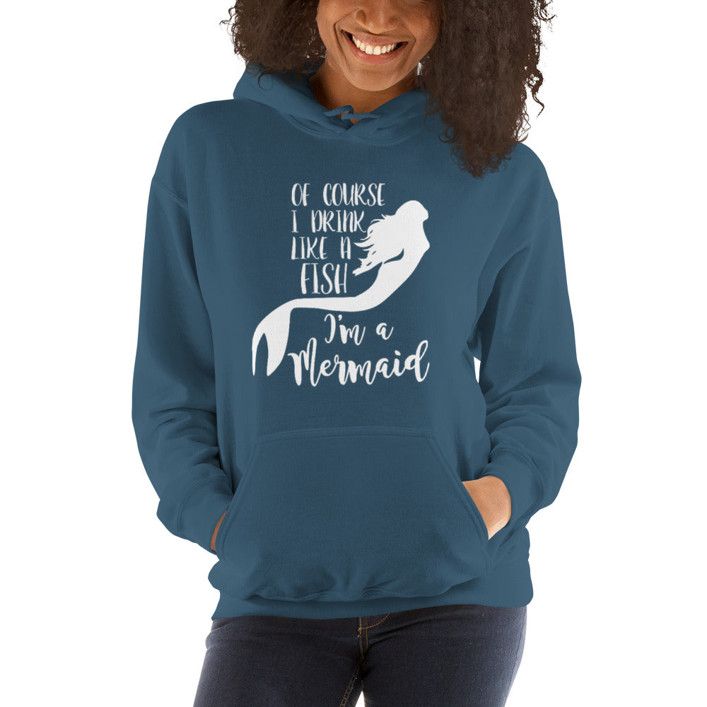 Drink Like a Fish Unisex Hooded Sweatshirt - Nauti Details