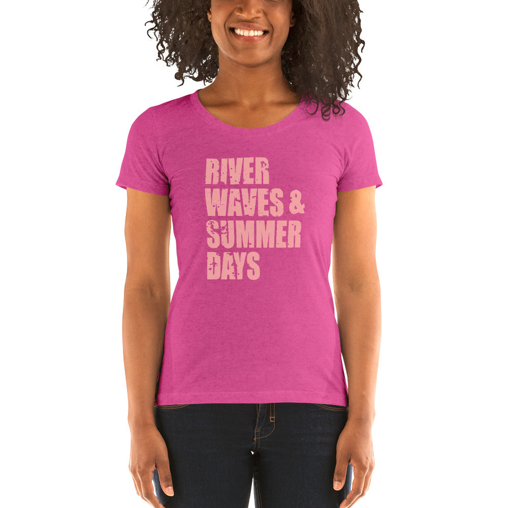 River Waves & Summer Days Women's Short Sleeve T-Shirt - Nauti Details