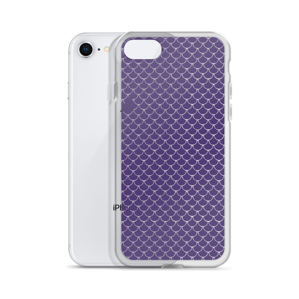 Mermaid Fish Scale Purple Rush iPhone Case - Nauti Details