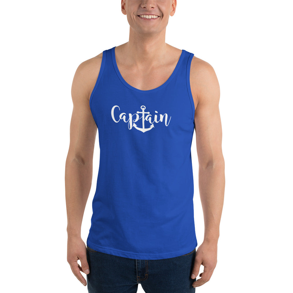 Captain Graphic Unisex Tank Top - Nauti Details