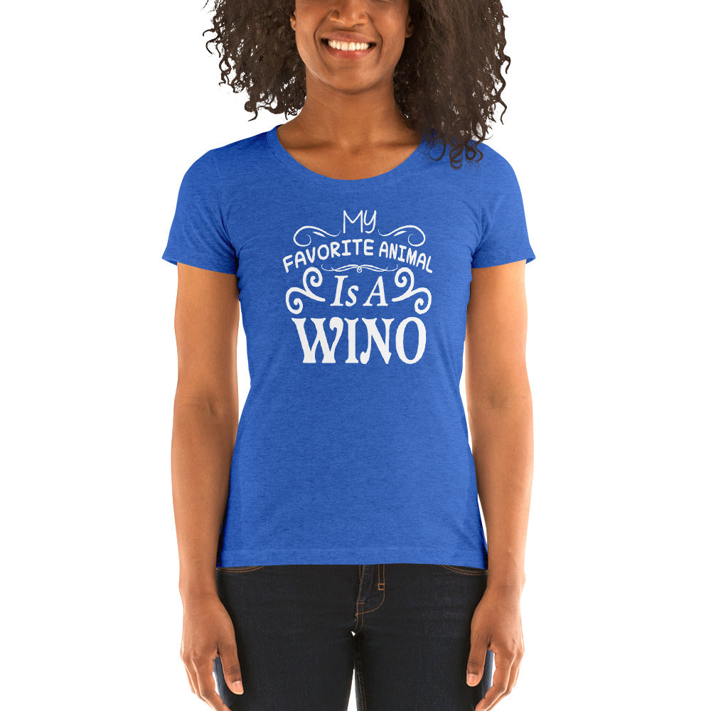 My Favorite Animal is a Wino Women's Short Sleeve T-Shirt - Nauti Details