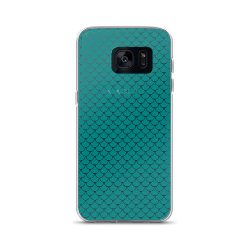 Mermaid Fish Scale Turquoise Samsung Phone Case - Nauti Details